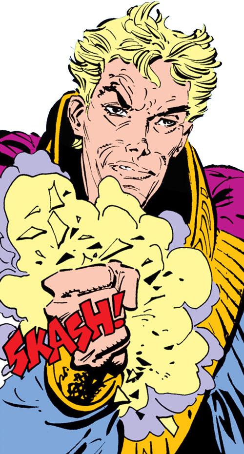 Donald Pierce (Marvel Comics) (White Bishop / King) crushes the Siege Perilous