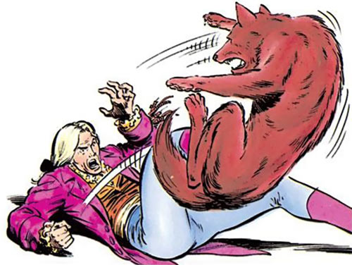 Donald Pierce (Marvel Comics) (White Bishop / King) kicks Wolfsbane off