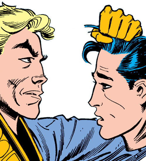 Donald Pierce (Marvel Comics) (White Bishop / King) and Pretty Boy's head