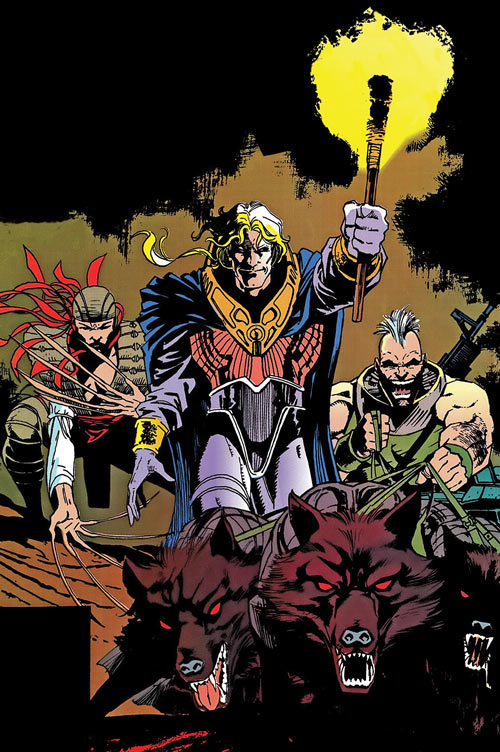 Donald Pierce (Marvel Comics) (White Bishop / King) with Reavers and dingoes