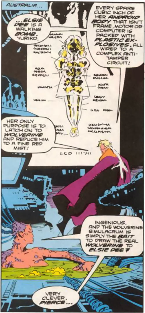 Donald Pierce (Marvel Comics) (White Bishop / King) with plans for Elsie-Dee