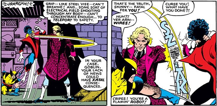 Donald Pierce (Marvel Comics) (White Bishop / King) vs. Wolverine and Nightcrawler