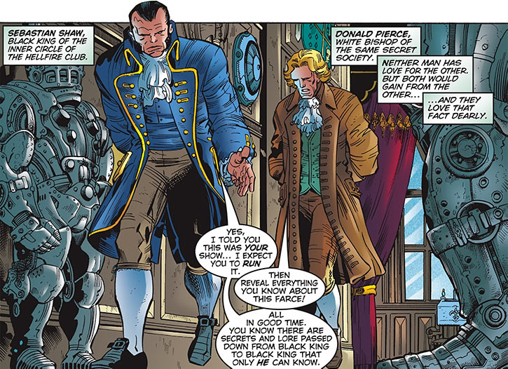 Donald Pierce (Marvel Comics) (White Bishop / King) and Black King Hellfire Club