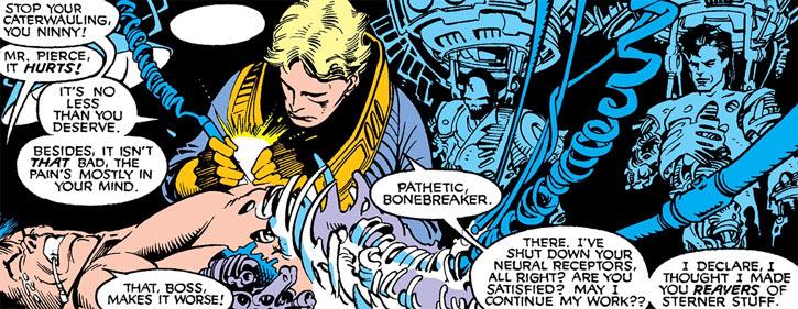 Donald Pierce (Marvel Comics) (White Bishop / King) repairing the Reavers