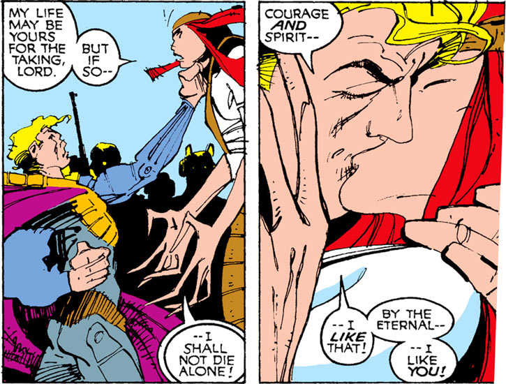 Donald Pierce (Marvel Comics) (White Bishop / King) kissing Deathstrike