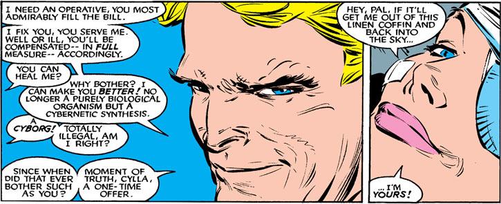Donald Pierce (Marvel Comics) (White Bishop / King) and Cylla