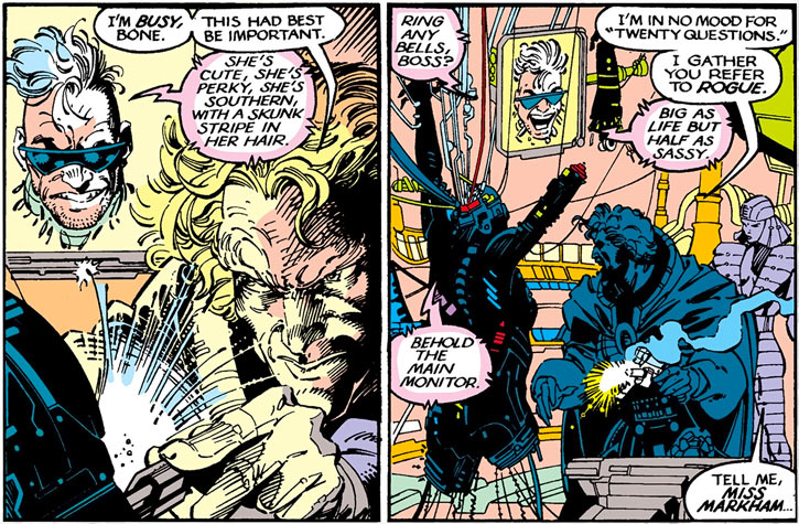Donald Pierce (Marvel Comics) (White Bishop / King) with Bonebreaker, Deathstrike and Cylla