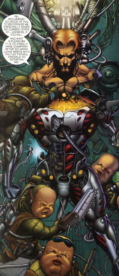 Donald Pierce (Marvel Comics) (White Bishop / King) being rebuilt