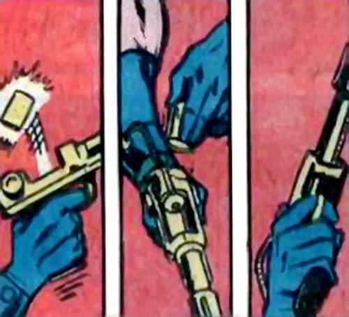 Donovan Flint of the Star Hunters (DC Comics) reloads his pistol