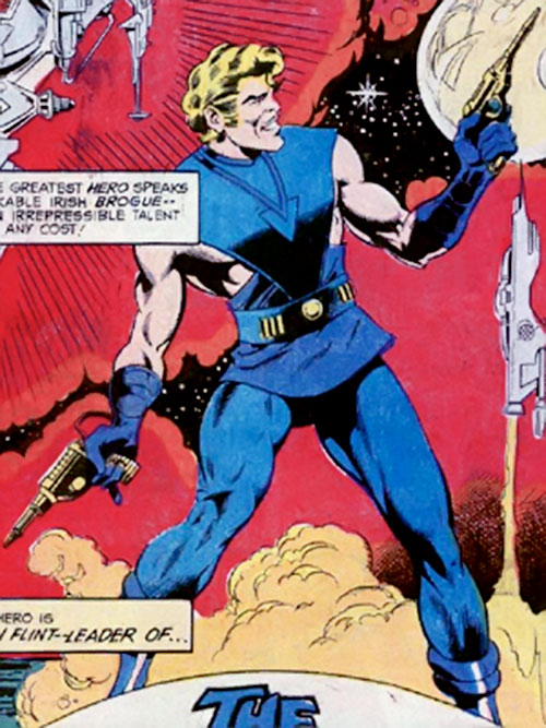 Donovan Flint of the Star Hunters (DC Comics) in his blue outfit