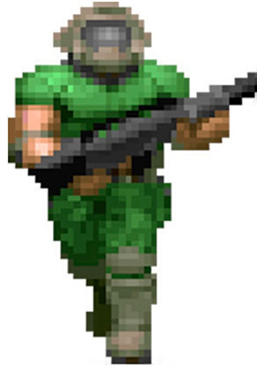 Doomguy in-game sprite