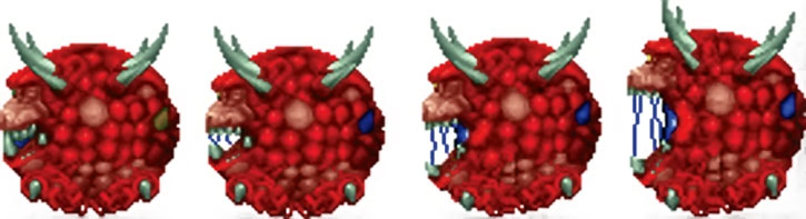 Doom cacodemon sprite rear view