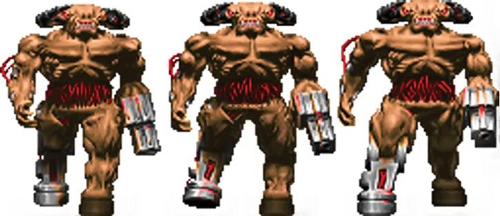 Doom cyberdemon shambling sprite