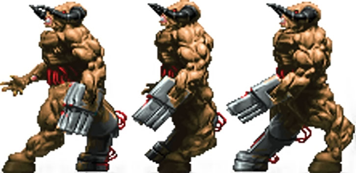 Doom cyberdemon walking sprite