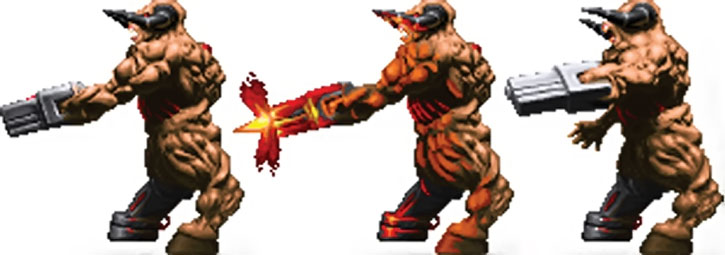 Doom cyberdemon rocket launcher sprite