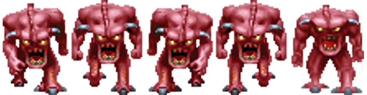 Doom demon charging sprite