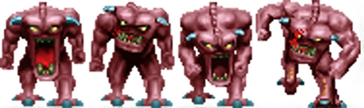 Doom demon standing sprite