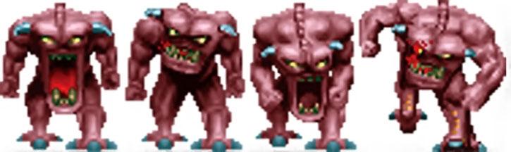Doom demon standing sprite