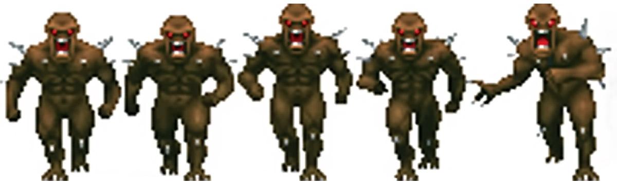 Doom imp sprite front view