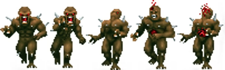Doom imp sprite in combat