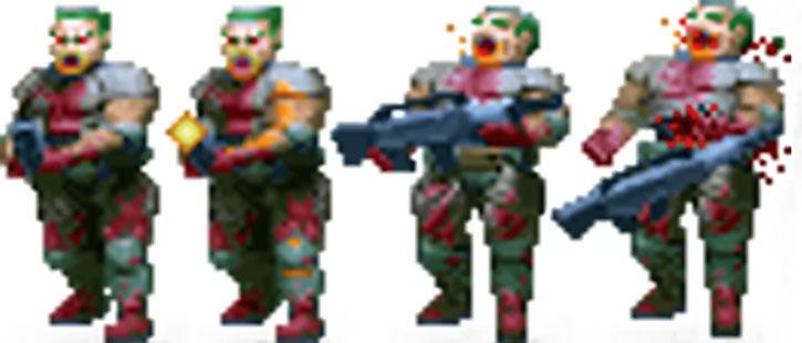 Doom video game zombie hit