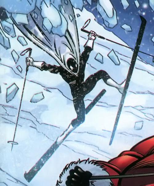 Doorman of the Great Lakes Avengers (Marvel Comics) on skis
