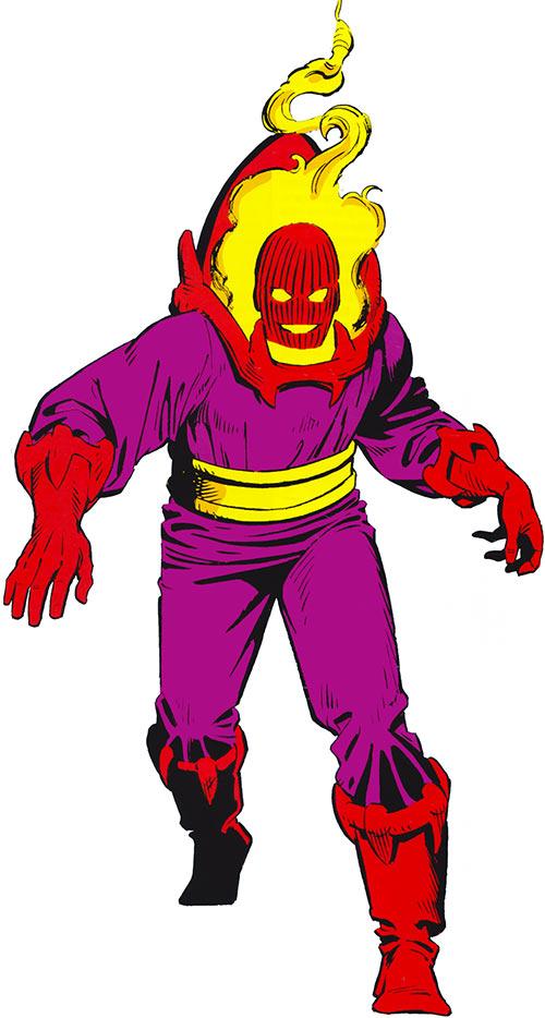 Dormammu (Doctor Strange) (Marvel Comics) 1980s handbook art