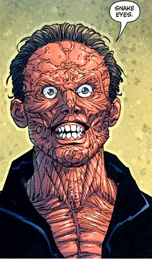 Doubledown (DC Comics villain) with his skin off