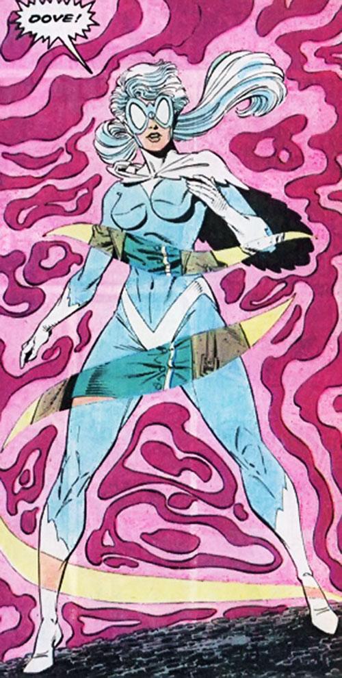 Dove (Dawn Granger) (DC Comics) manifesting her costume