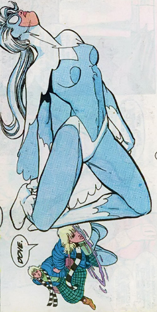 Dove (Dawn Granger) (DC Comics) transforming