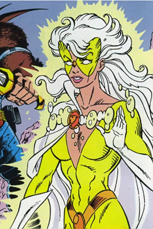 Dove (Dawn Granger) (DC Comics) with the golden costume
