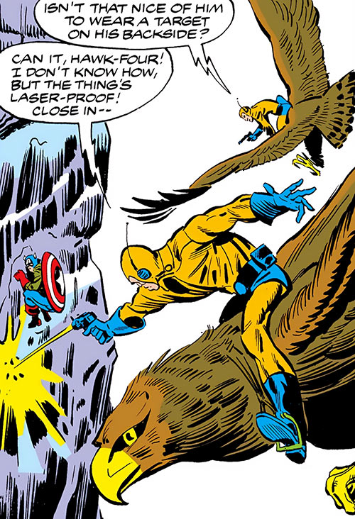 Dovecote guards on giant hawks (Marvel Comics)