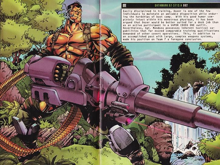 Dozer with heavy artillery splash page