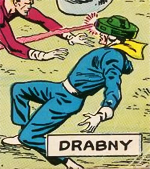 Drabny with his power helmet