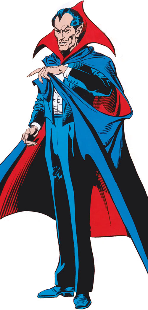 Dracula in the 1983 Official Marvel Comics Handbook
