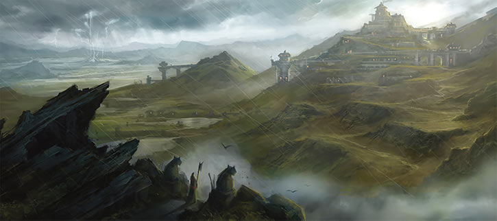 Dragon Age - Ferelden landscape - Rain of course