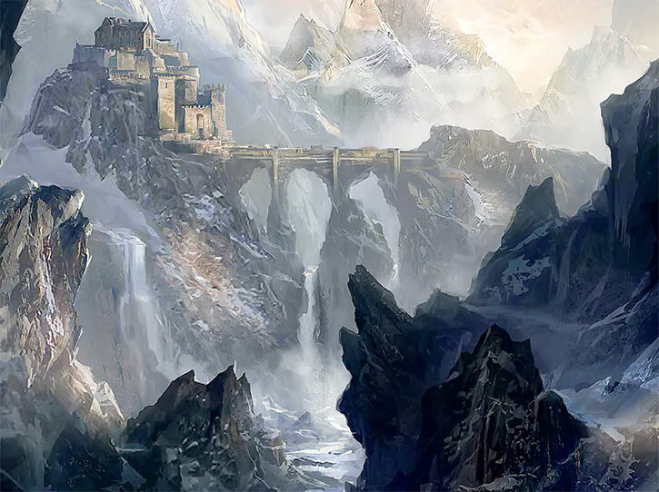 Dragon Age official art - Skyhold