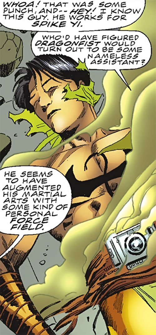 Dragonfist (Spider-Girl enemy) (Marvel Comics MC2) defeated