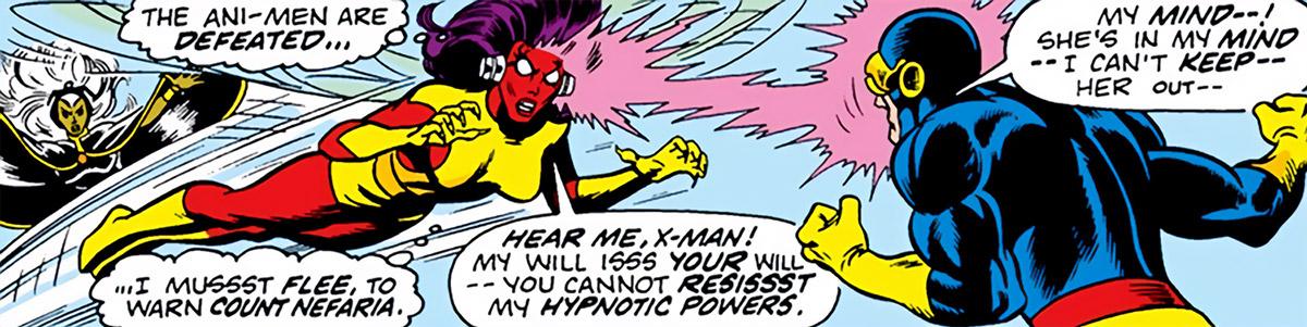 Dragonfly (Marvel Comics) (Ani-Men) (Dultry) vs Cyclops