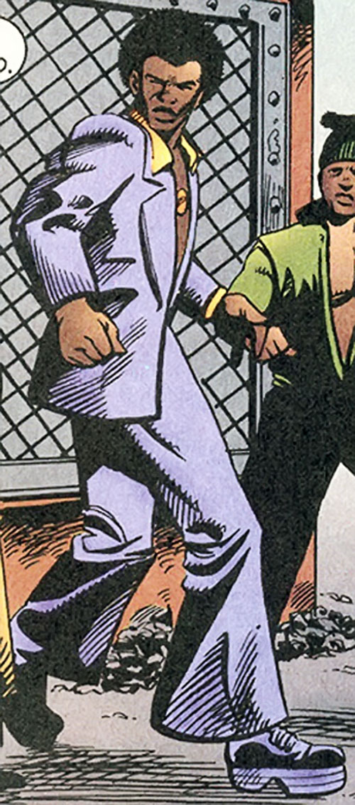 Dragonfly of the Super-Soldiers (Marvel Comics UK) in a purple suit