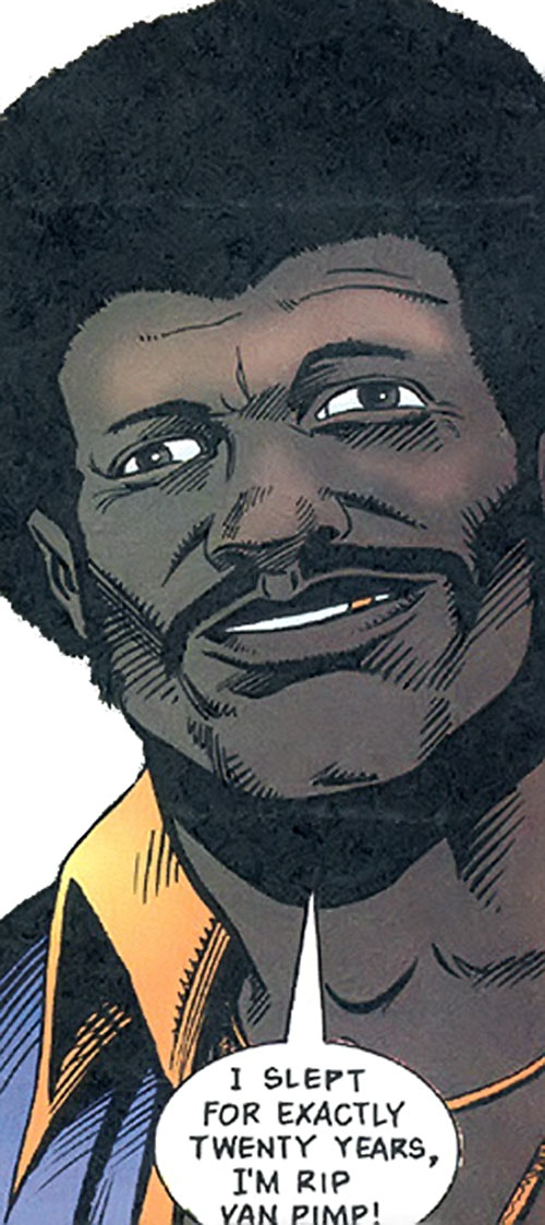 Dragonfly of the Super-Soldiers (Marvel Comics UK) and his gold tooth