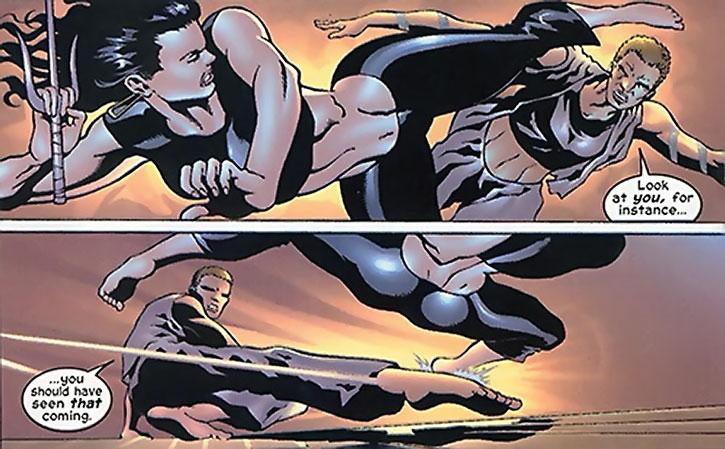 Drake and Elektra sparring