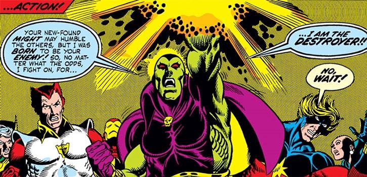 Classic Drax with Mentor, Starfox, Iron Man, Captain Marvel and Moondragon