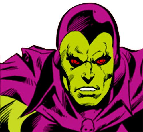 Drax the Destroyer (classic) (Captain Marvel Comics) face closeup