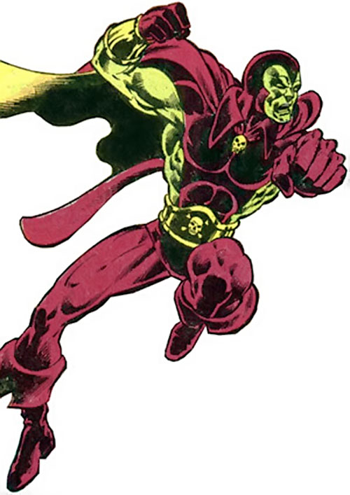 Drax the Destroyer (classic) (Captain Marvel Comics) in battle