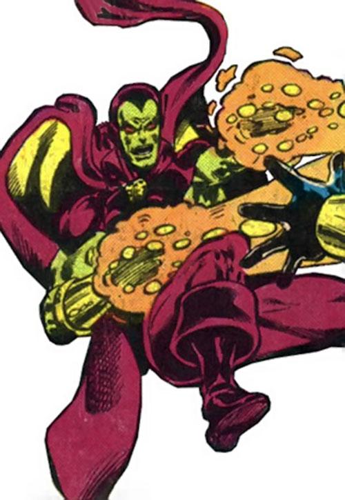 Drax the Destroyer (classic) (Captain Marvel Comics) firing energy blasts