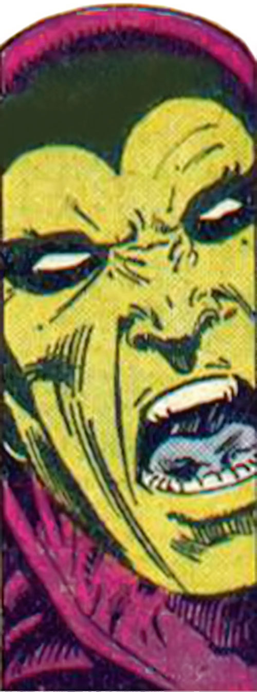 Drax the Destroyer (classic) (Captain Marvel Comics) yelling face closeup
