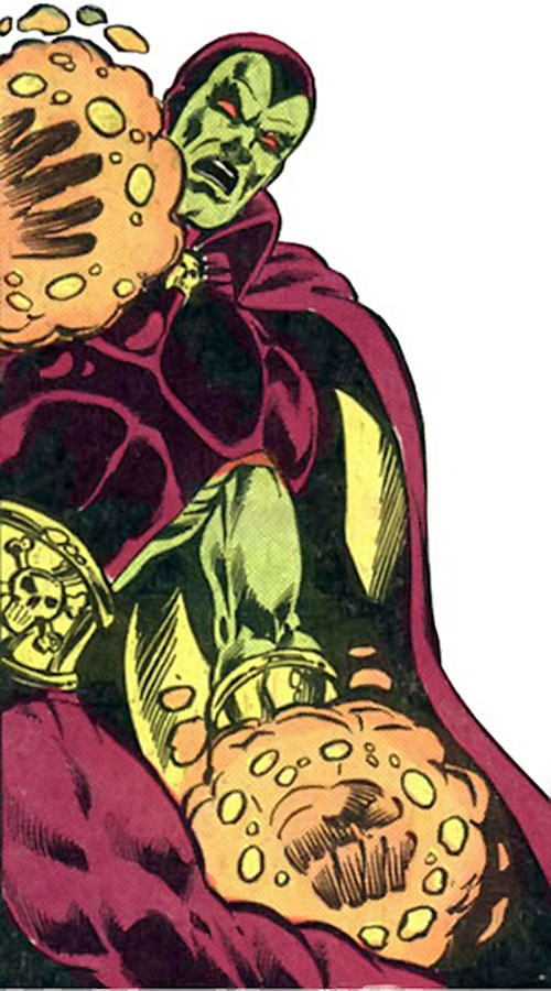 Drax the Destroyer (classic) (Captain Marvel Comics) with glowing hands