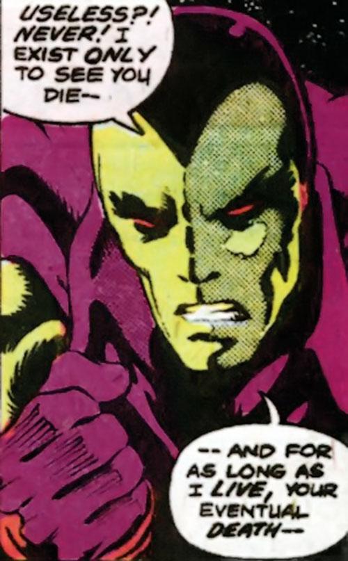 Drax the Destroyer (classic) (Captain Marvel Comics) determined face closeup