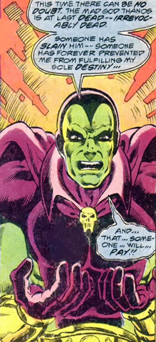 Drax the Destroyer (classic) (Captain Marvel Comics) enraged
